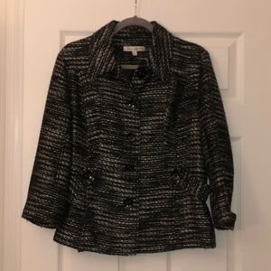 Travelsmith metallic tweed jacket 14